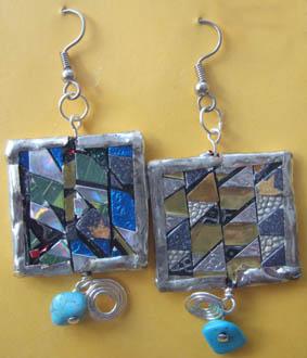 Mosaic ear rings