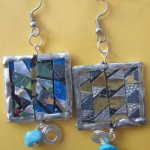 Mosaic ear rings