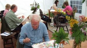 St. Leo's Art Club on a residential week at Craig Lodge, Dalmally.